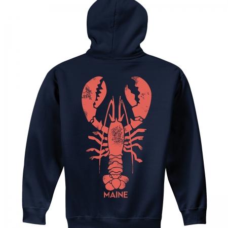 Giant Vintage Lobster Hoodie